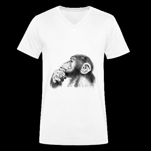 Tee-shirt bio H col en V - Singe - T-shirt bio col V Stanley & Stella Homme