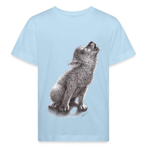 Junger heulender Wolf  T-shirt - Kinder Bio-T-Shirt
