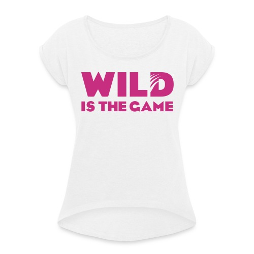 FLO BLACK GIRLY - T-shirt à manches retroussées Femme