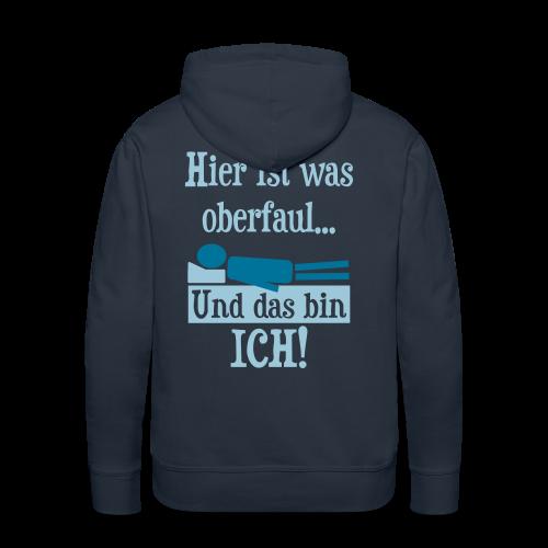 Faul Schlafen Spruch T-Shirts - Männer Premium Hoodie