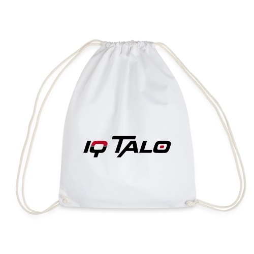 IQ Talo Turnbeutel Weiß Flockdruck - Turnbeutel