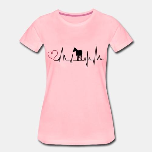 Heartbeat Quarterhorse Frauenshirt - Frauen Premium T-Shirt