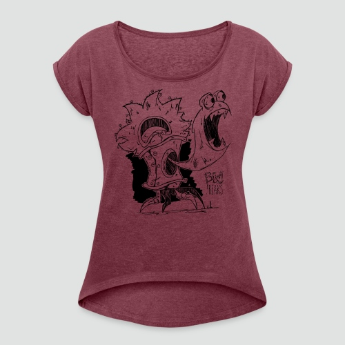 BURST Limited edition T-Shirt - Women's T-Shirt with rolled up sleeves