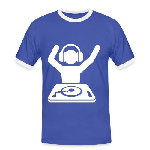 DJmusic. - Mannen contrastshirt