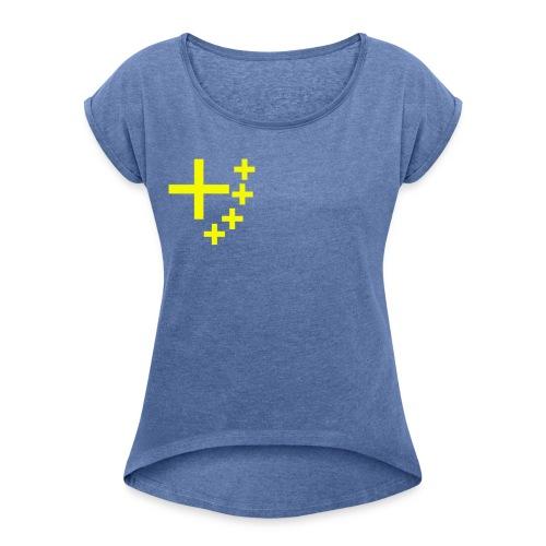 China of Christus - Frauen T-Shirt mit gerollten Ärmeln