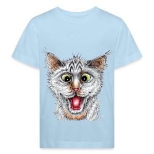 Lustige Katze - T-shirt - Happy Cat - Kinder Bio-T-Shirt