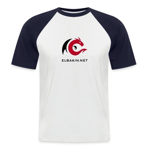 T-shirt homme bicolore logo bicolore - T-shirt baseball manches courtes Homme