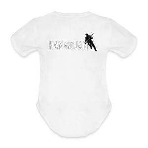HAM and JAM WMC-Wee Man Coverall - Organic Short-sleeved Baby Bodysuit