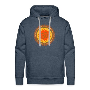 2x OM Lotus (yellow/neon-orange/matte-gold) - Männer Premium Hoodie