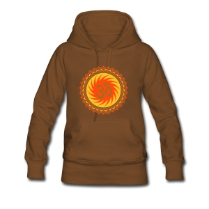 2x OM Lotus (yellow/neon-orange/matte-gold) - Frauen Premium Hoodie