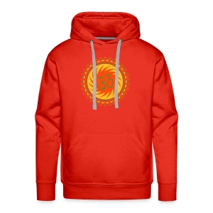 OM Lotus (yellow/neon-orange/matte-gold) - Männer Premium Hoodie