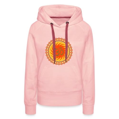 OM Lotus (yellow/neon-orange/matte-gold) - Frauen Premium Hoodie