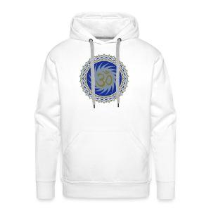 OM Lotus (blue/matte-gold/matte-silver) - Männer Premium Hoodie