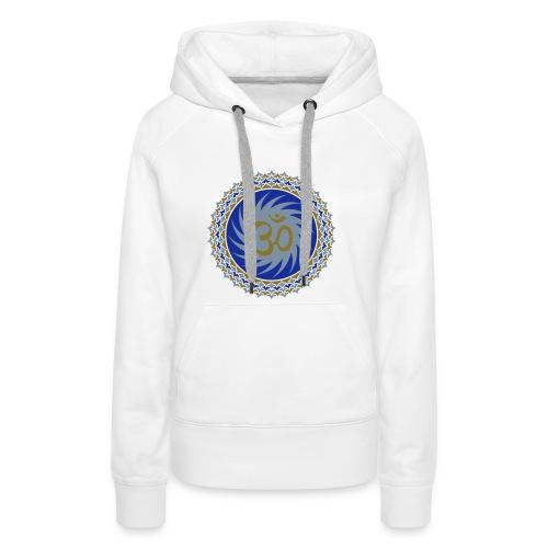 2x OM Lotus (blue/matte-gold/matte-silver) - Frauen Premium Hoodie