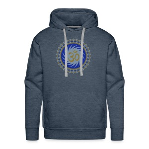 2x OM Lotus (blue/matte-gold/matte-silver) - Männer Premium Hoodie