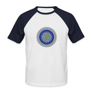 OM Lotus (blue/gold/silver) - Männer Baseball-T-Shirt