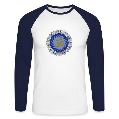 OM Lotus (blue/gold/silver) - Männer Baseballshirt langarm