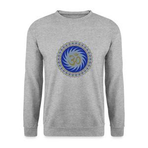 OM Lotus (blue/matte-gold/matte-silver) - Männer Pullover