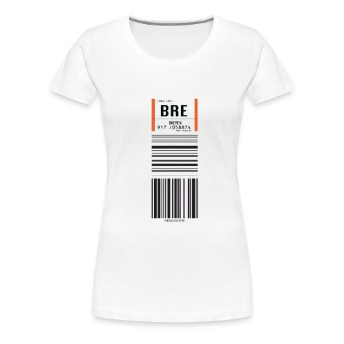 Flughafen Bremen BRE - Frauen T-Shirt (runder Ausschnitt) - Frauen Premium T-Shirt