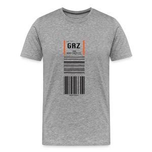 Flughafen Graz GRZ - Männer T-Shirt - Männer Premium T-Shirt