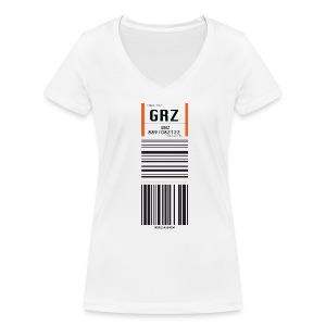 Flughafen Bremen BRE - Frauen T-Shirt (V-Ausschnitt) - Frauen Bio-T-Shirt mit V-Ausschnitt von Stanley & Stella
