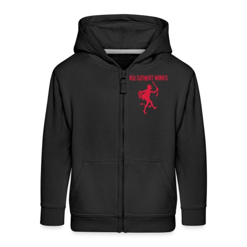 Child's black hoody with zip- logo back - Kids' Premium Zip Hoodie