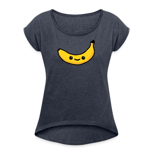 Alles Banane! - Frauen T-Shirt mit gerollten Ärmeln