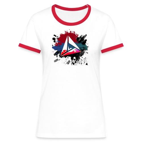 T-Shirt Girly Splash - T-shirt contrasté Femme
