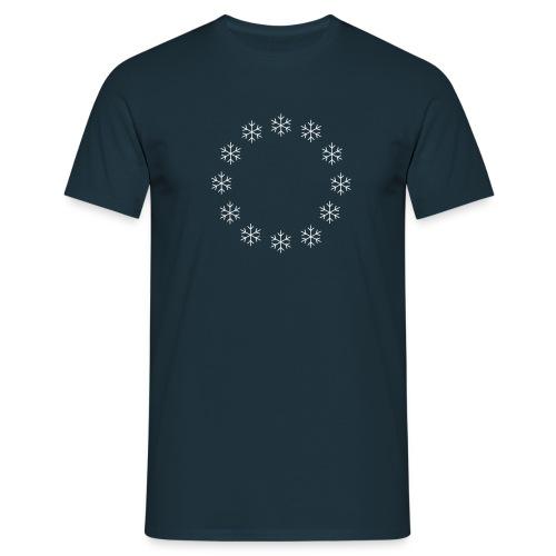Snowflake Stars - Men's T-Shirt