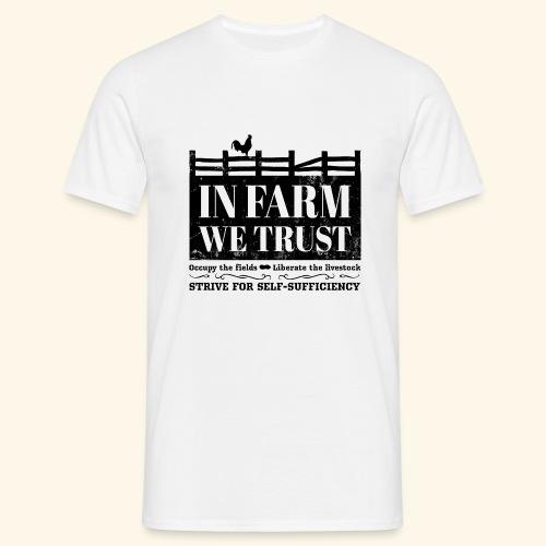 In Farm We Trust: Self-Sufficiency - Logo Schwarz - Männer T-Shirt