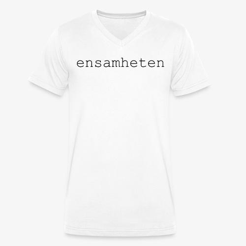 V-Neck Herr Vit  - Ekologisk T-shirt med V-ringning herr från Stanley & Stella