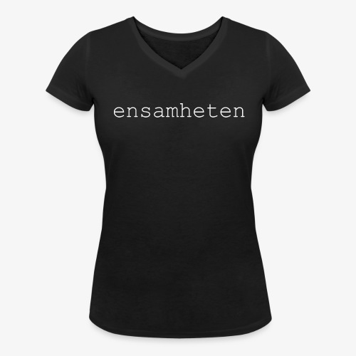 V-Neck Dam Svart - Ekologisk T-shirt med V-ringning dam från Stanley & Stella