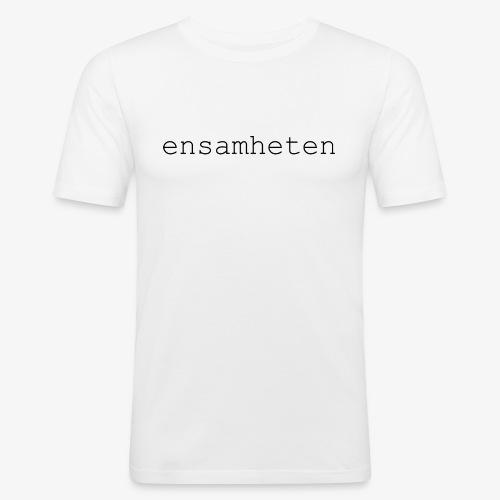 T-Shirt Slim Herr Vit  - Slim Fit T-shirt herr