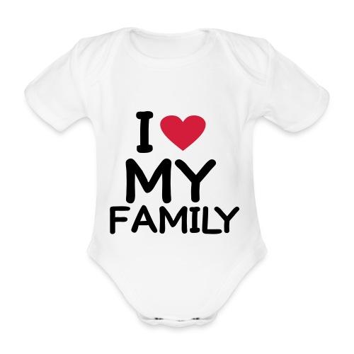 FAMILY - Body orgánico de maga corta para bebé