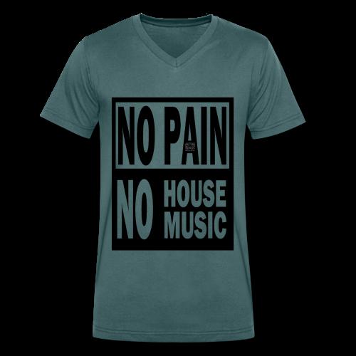 T-shirt Homme No Pain No House Music - T-shirt bio col V Stanley & Stella Homme