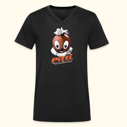 Männer Bio-T-Shirt mit V-Ausschnitt Pittiplatsch Ach, du meine Nase  - Männer Bio-T-Shirt mit V-Ausschnitt von Stanley & Stella