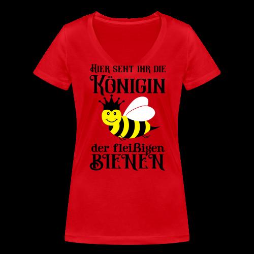 Danke Sagen Fleißige Biene Königin Spruch T-Shirts - Frauen Bio-T-Shirt mit V-Ausschnitt von Stanley & Stella