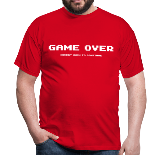 T-shirt, Game over - T-shirt herr