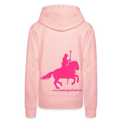 rosa gardian på rosa tröja - Premiumluvtröja dam