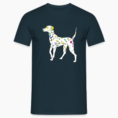 Navy colorfully dog - dalmatiner Men's T-Shirts