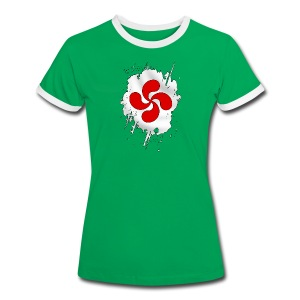 Croix Basque design - T-shirt contrasté Femme