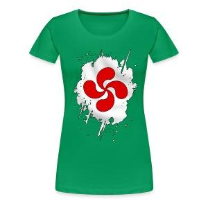 Croix Basque design - T-shirt Premium Femme
