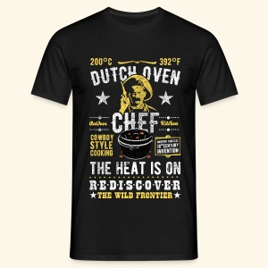 Dutch Oven Chef, Outlaw, distressed - Männer T-Shirt