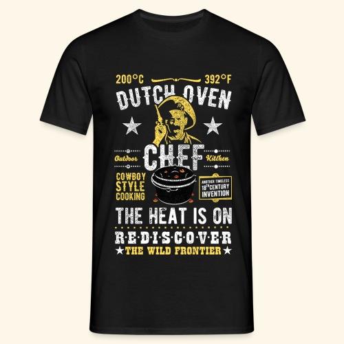 Dutch Oven Chef, Outlaw, distressed - Männer T-Shirt