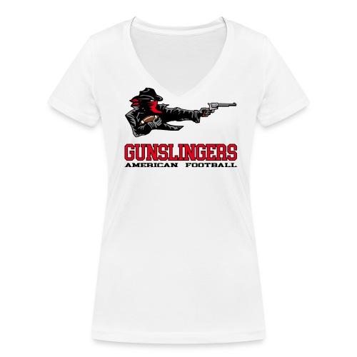 Gunslingers Frauen T-Shirt - Frauen Bio-T-Shirt mit V-Ausschnitt von Stanley & Stella