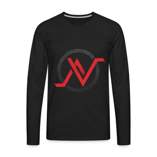 T-Shirt Manche Longue Rouge - T-shirt manches longues Premium Homme