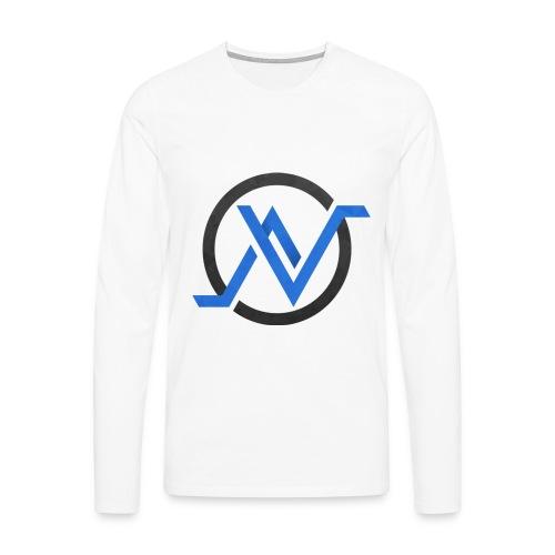 T-Shirt Manche Longue Bleu - T-shirt manches longues Premium Homme