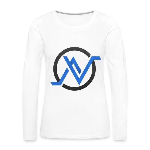 T-Shirt Manche Longue Bleu - Femme - T-shirt manches longues Premium Femme