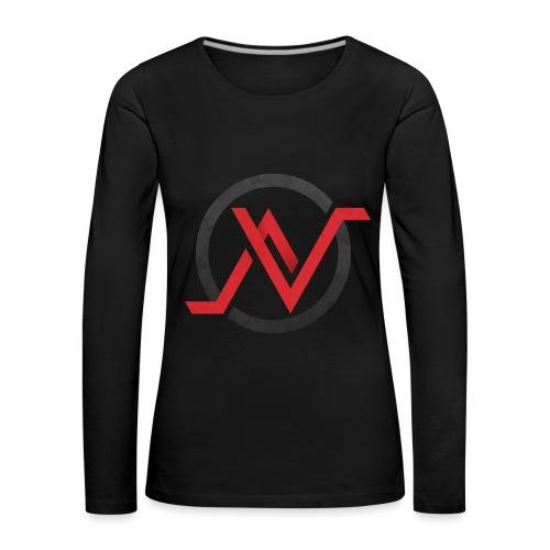 T-Shirt Manche Longue Rouge - Femme - T-shirt manches longues Premium Femme