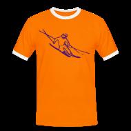 T-Shirts ~ Men's Ringer Shirt ~ Telemark Skier Contrast Tee